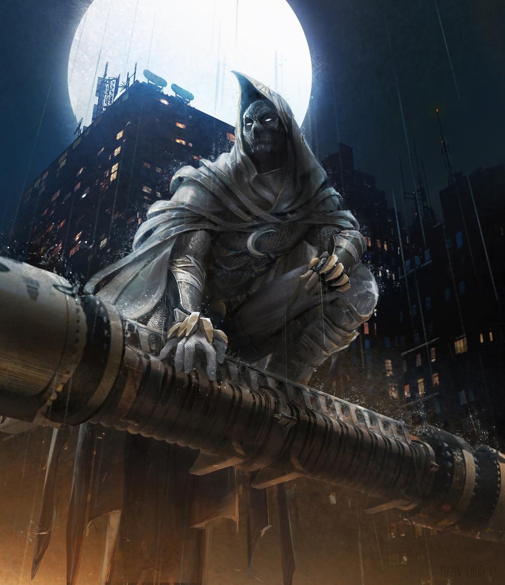 Artstation Moon Knight Fanart Yujin Choo Moon Knight Marvel Moon Knight Marvel Art