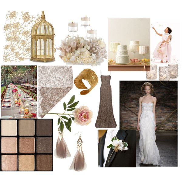 Dove Grey Feather Wedding, created by dailybatch