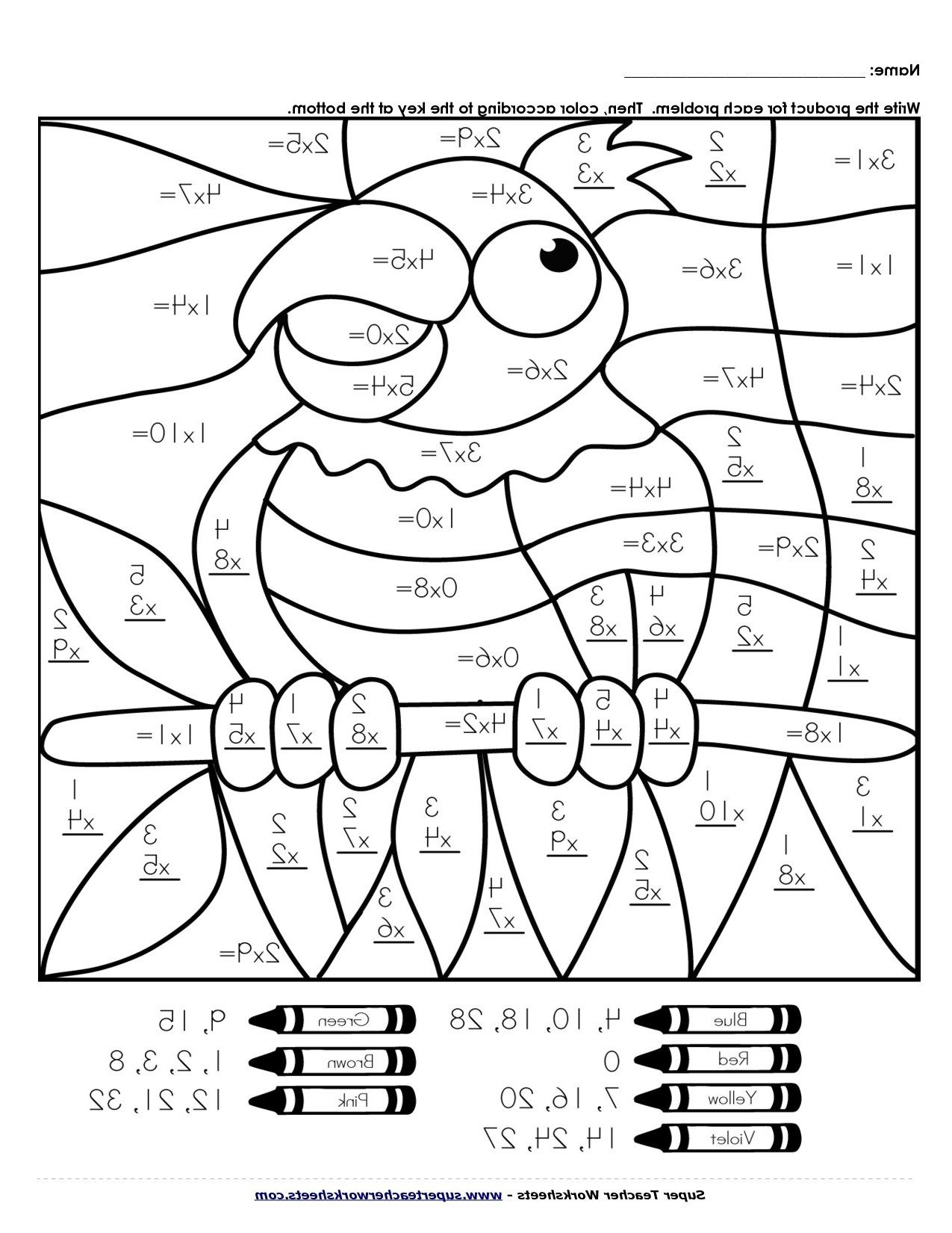 3rd Grade Math Worksheets Multiplication