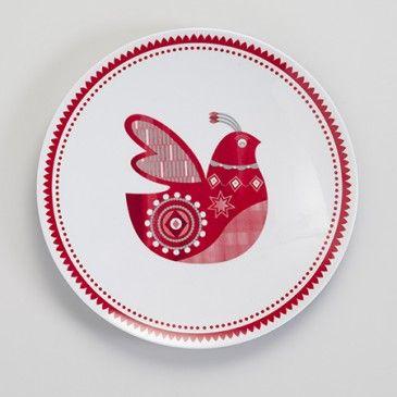 Dove Melamine Plate 16 95 Hardtofindcomp Love This Plate I Have Quite A Few Mozi M Scandinavian Ceramic Handmade Christmas Christmas Plates