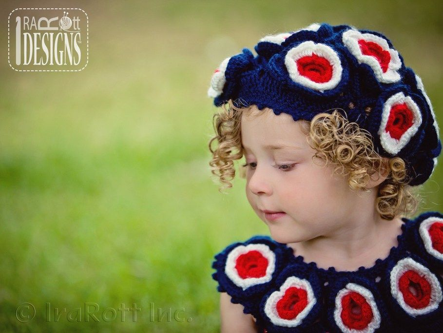Summer Dreams Dress or Top and Beret PDF Crochet Pattern by IraRott Inc.