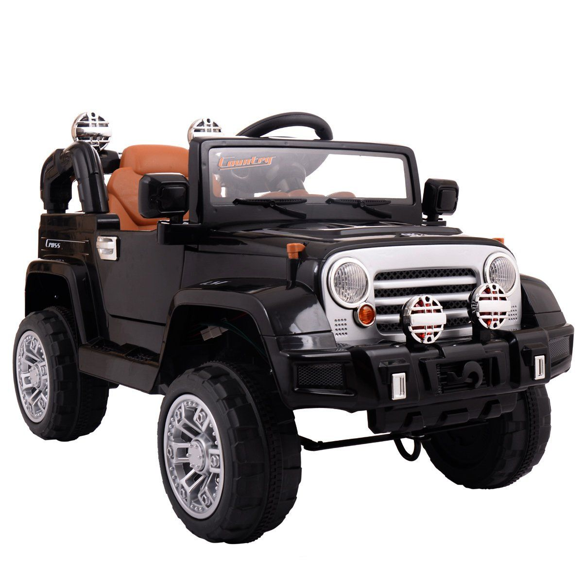 Jaxpety 12V White Jeep Kids Ride On Battery Powered Toy