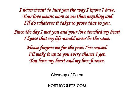 Im Sorry Poems For Ex Girlfriends
