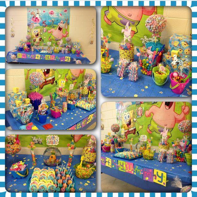spongebob candy buffet birthday party spongebob birthday party rh pinterest com