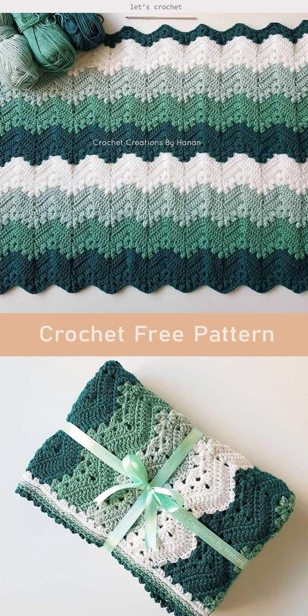 6 Day Kid Blanket Crochet Free Pattern #crochetpatterns