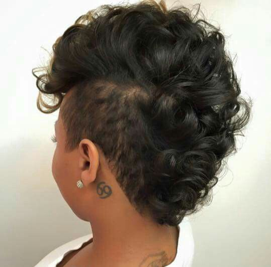 curly frohawk natural hair &