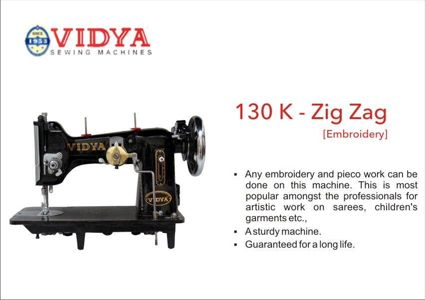 Vidya Sewing Machines Choice Of The People Since 40 Industrial Custom Vidya Sewing Machine With Table