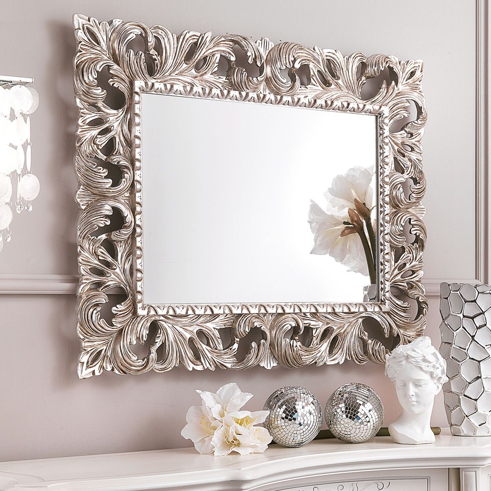 Ornate silver leaf rococo wall mirror 1g 10001000 improve ornate silver leaf rococo wall mirror 1g amipublicfo Choice Image