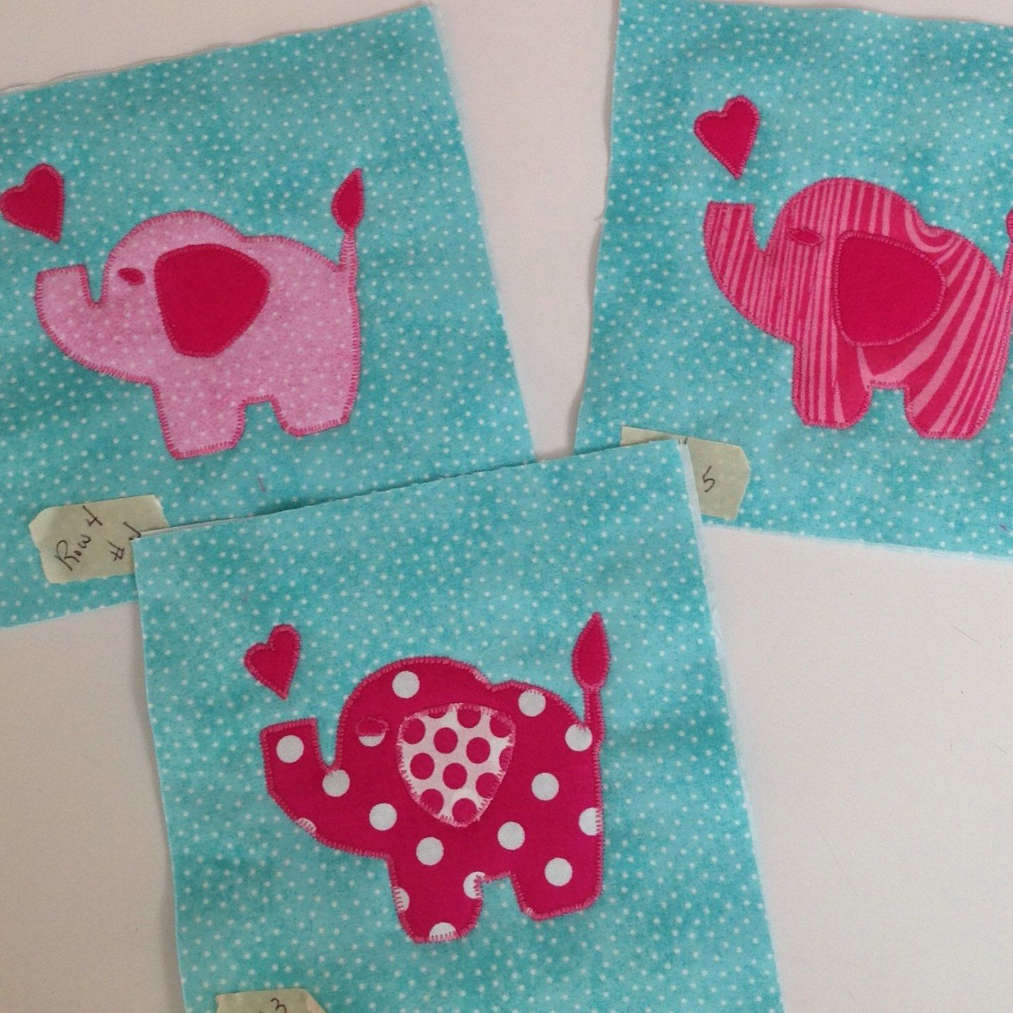 Pink Elephants to go with my newest baby quilt