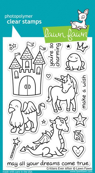 This stamp set coordinates perfectly with Critters Ever After Lawn ...