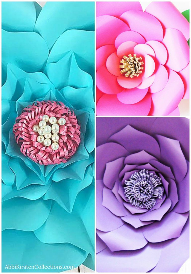 Paper Flower Centers 5 Ways To Make Centers For Giant Flowers Mad