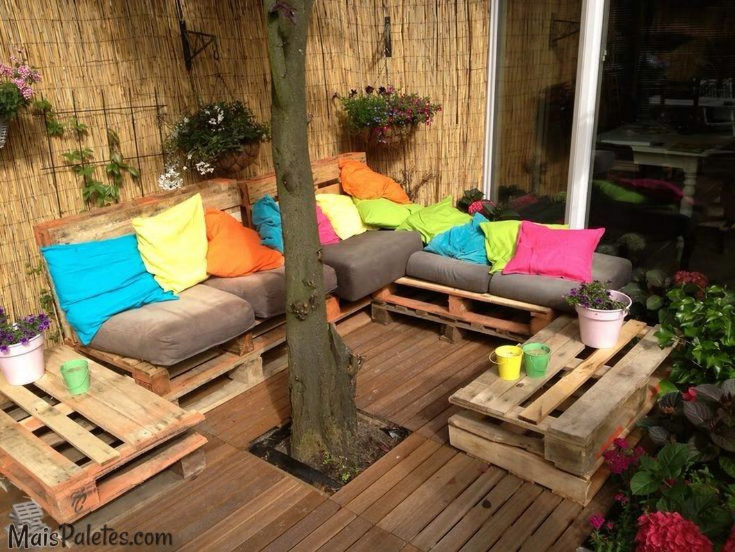 Sofas De Pallets Para Area Externa Sofa De Pallet Area Externa Colorido Diy Projects En 2019 Home