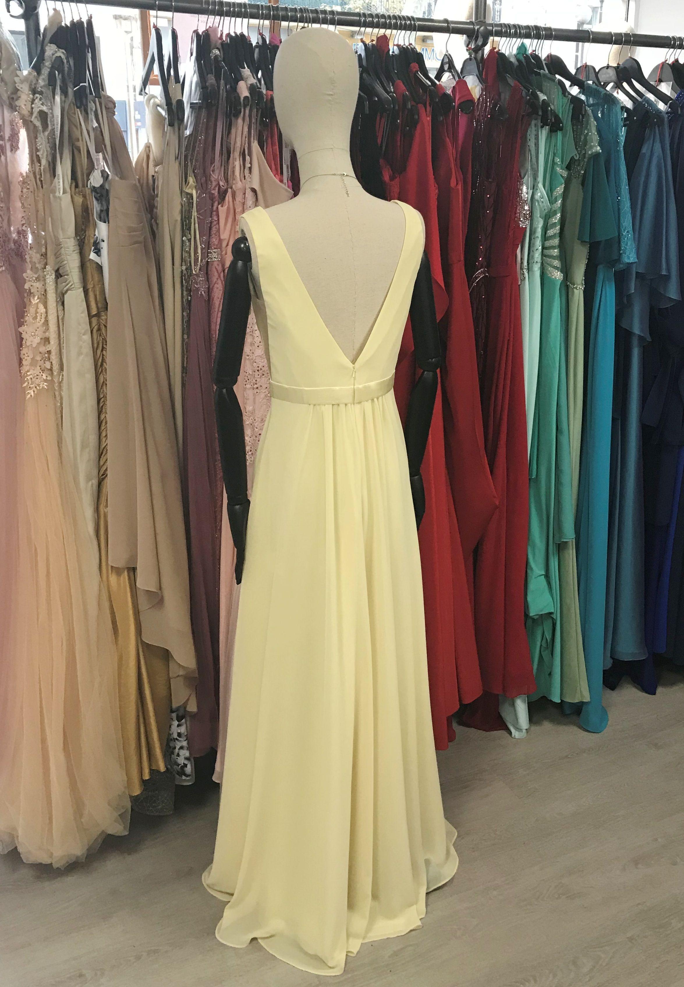 a479e2306183 Robe longue jaune pastel