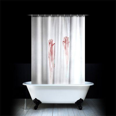 Bloodstained Shower Curtain