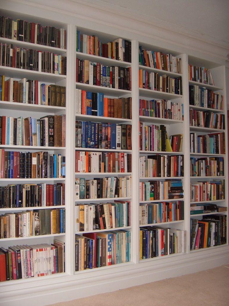 Floor To Ceiling Bookshelf Or Pantry In Corner Behind Door