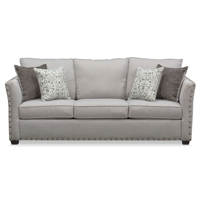 Mckenna Queen Innerspring Sleeper Sofa Pewter Value City Furniture
