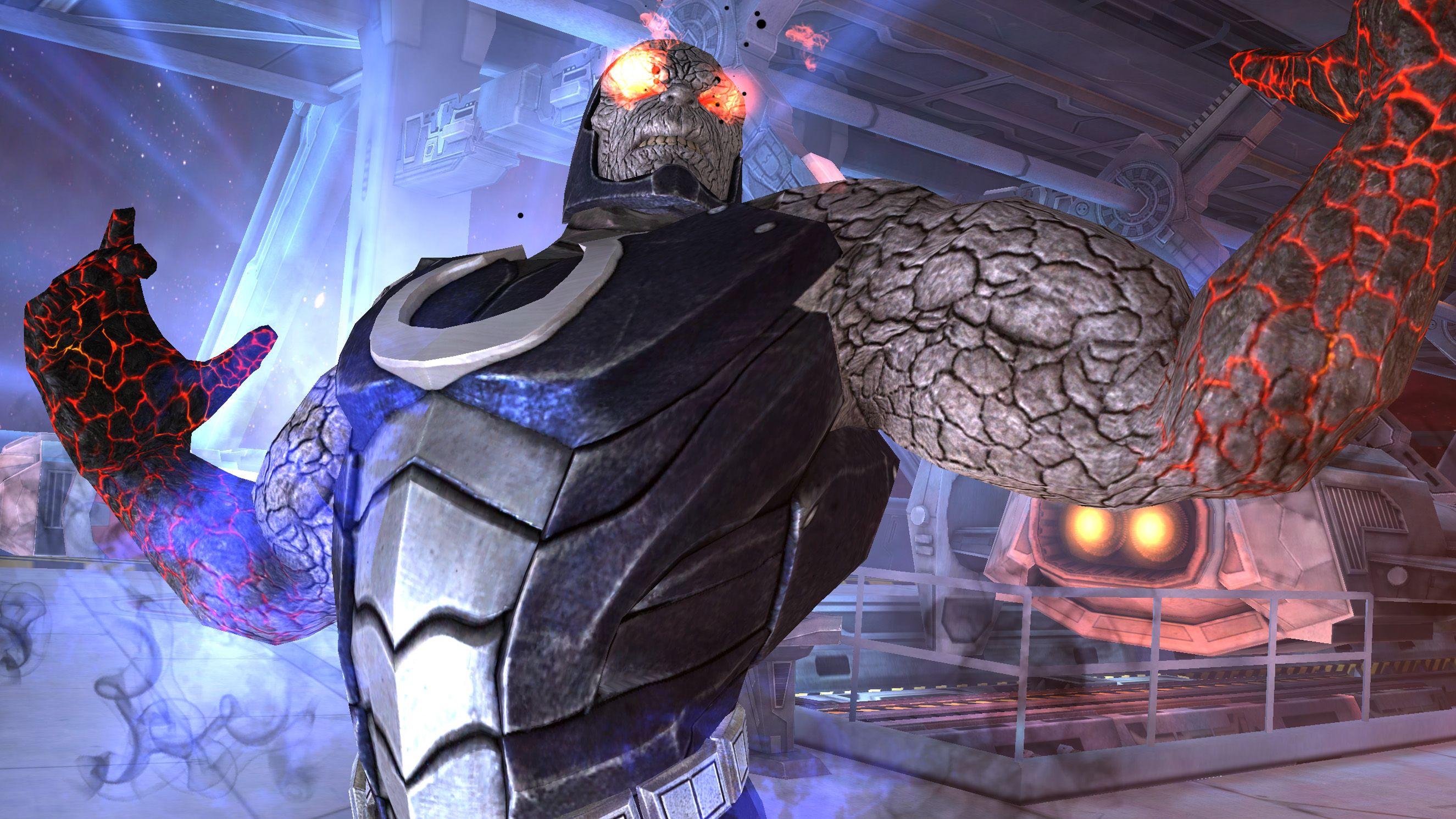 Darkseid Debuts On Injustice Gods Among Us Mobile Http Www Reelfilmnews Com 2014 03 06 Injustice Debuts Darkseid Character E Darkseid Injustice Mobile Game