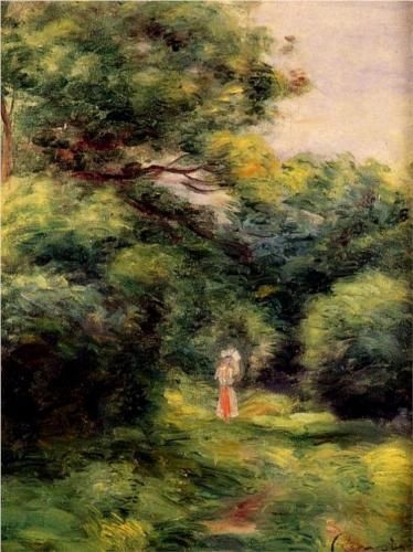 Lane in the Woods - Pierre-Auguste Renoir