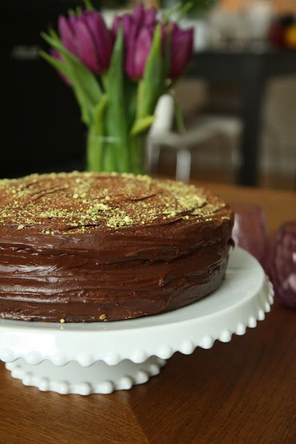 double chocolate sour cream cake...