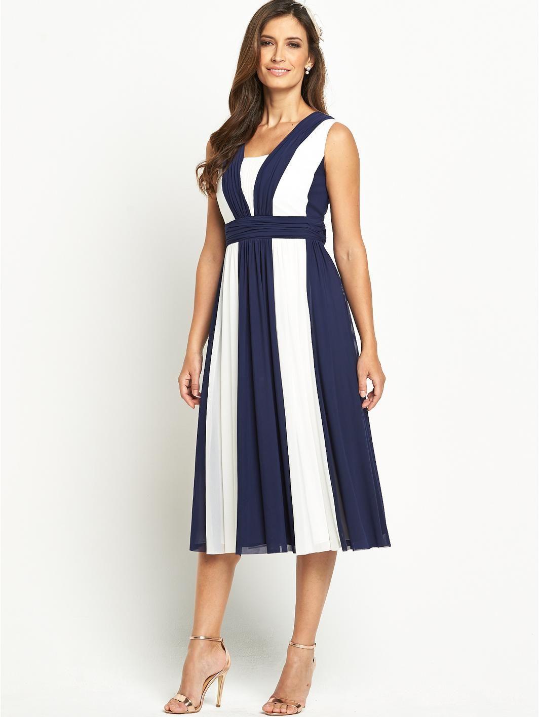 Berkertex pleated bodice maxi dress with stole