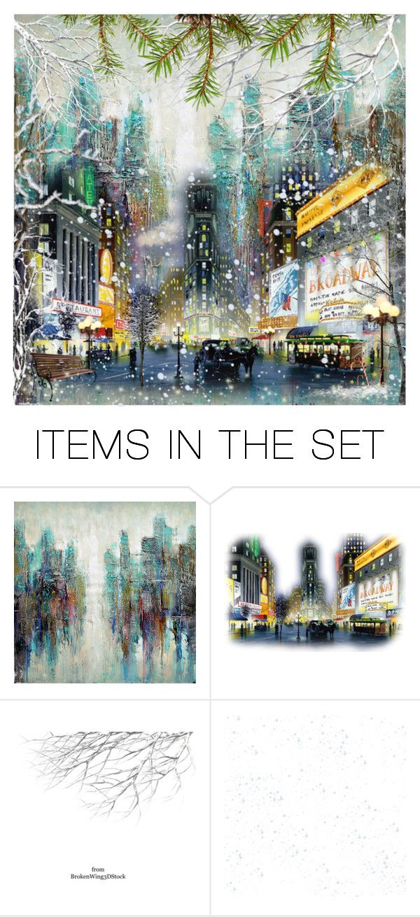 """December in the city"" by babooptgmi ❤ liked on Polyvore featuring art"