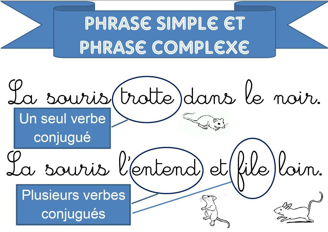 Pour une séquence sur phrase simple et phrase complexe ...