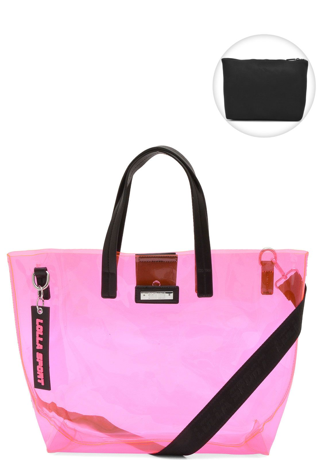 df6f5960d Bolsa Santa Lolla Transparente Rosa | Products | Gym Bag, Bags e ...