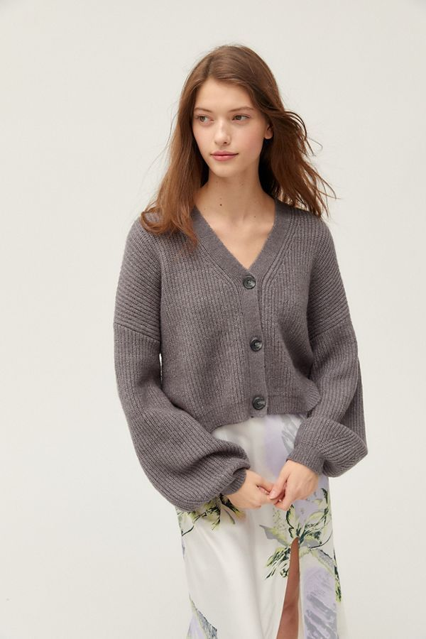 Truly Madly Deeply Piper Slouchy Balloon Sleeve Cardigan