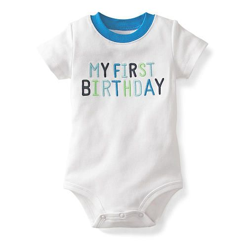 Carters Boys My First Birthday Bodysuit