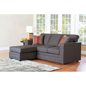 Beeson fabric queen sleeper chaise sofa 20 seat height for Andersen leather chaise sectional