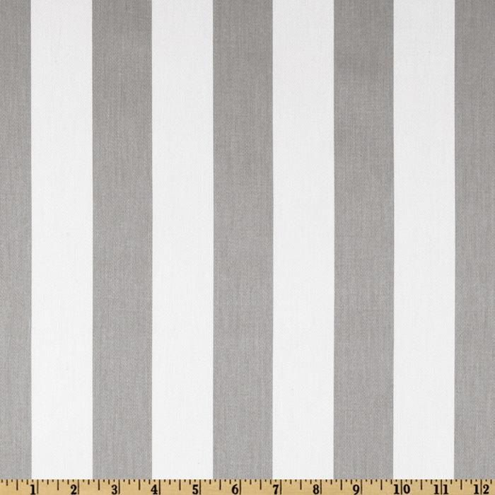 Grey Stripe Fabric by the Yard Canopy Storm White by FabricSecret, $10.35