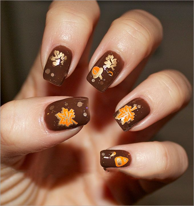 66 Juicy Autumn Nails Designs To Try This Fall | Make up