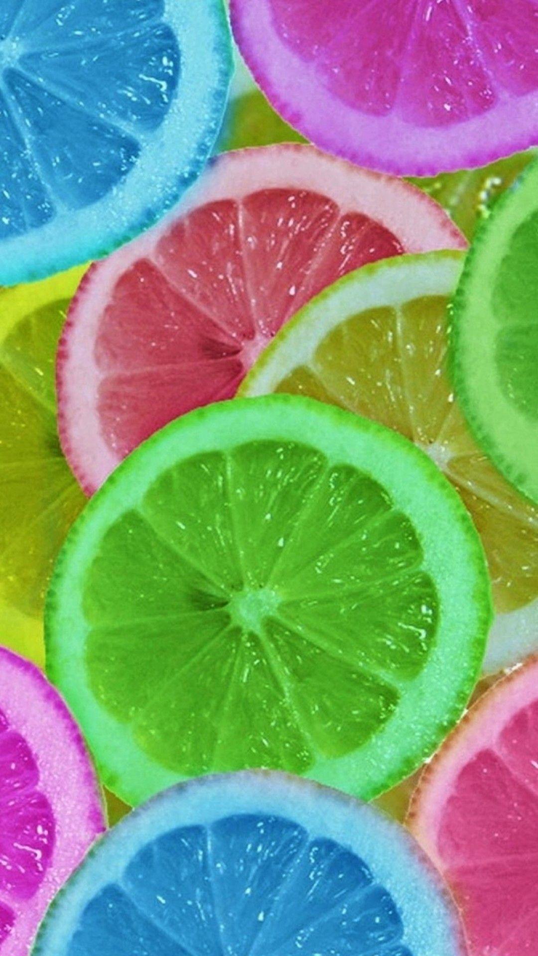 ☺iphone 7 wallpaper HD168 Limoni colorati, Sfondi