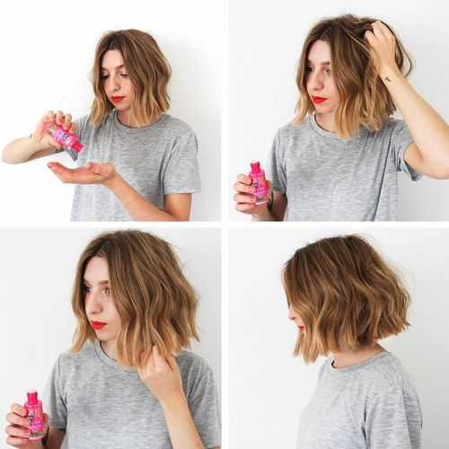 How To Style A Textured Messy Bob Easy Quick Hair Tutorial