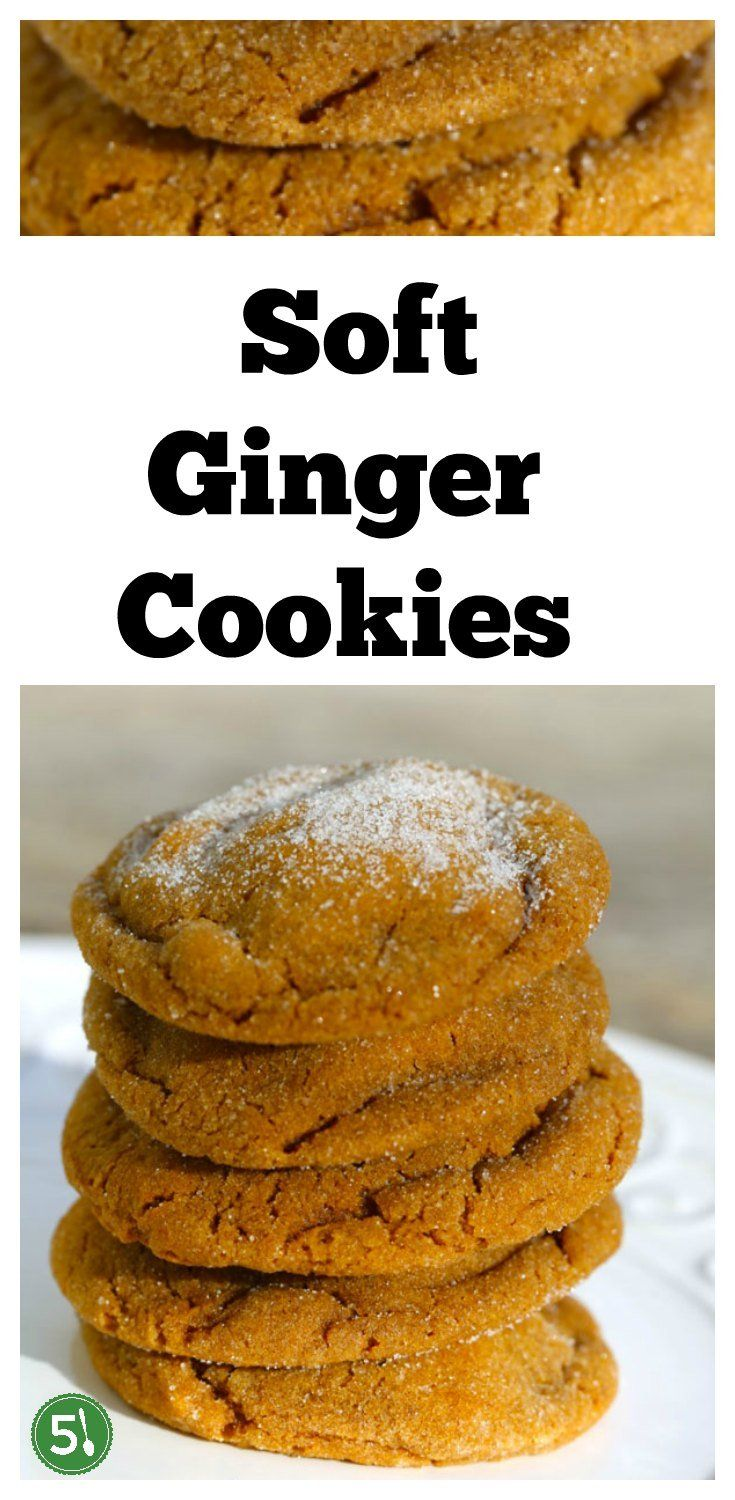 Soft ginger cookies recipe that are big in size and flavor.  The soft and chewy texture is perfection with sugar drizzled on top. #gingercookies #cookies #ginger