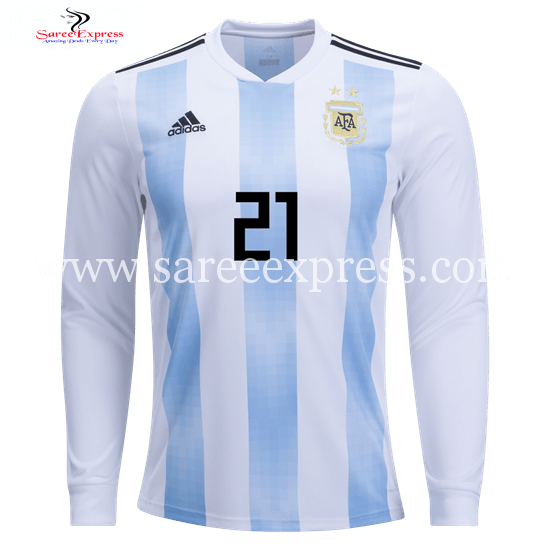 wholesale dealer 28852 57967 Adidas Paulo Dybala Long Sleeve Argentina Home Jersey World ...
