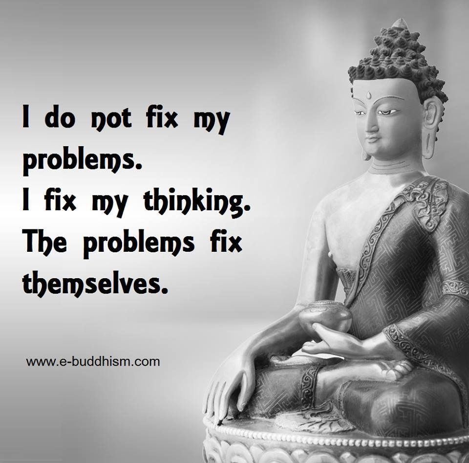 I do not fix my problems  Buddhism quote, Buddha quotes