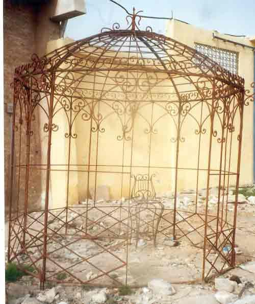 Vintage Metal Arbor Wrought Iron Gazebos Garden Metal Gazebo