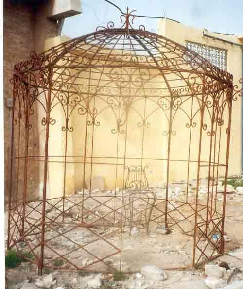 vintage metal arbor | wrought iron gazebos - garden metal gazebo - Vintage Metal Arbor Wrought Iron Gazebos - Garden Metal Gazebo