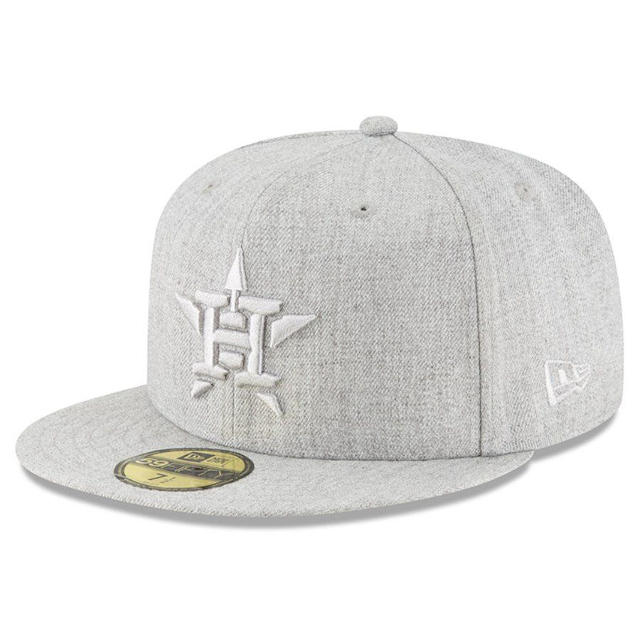 f14517fecb67a Men s Houston Astros New Era Gray Twisted Frame 59FIFTY Fitted Hat ...