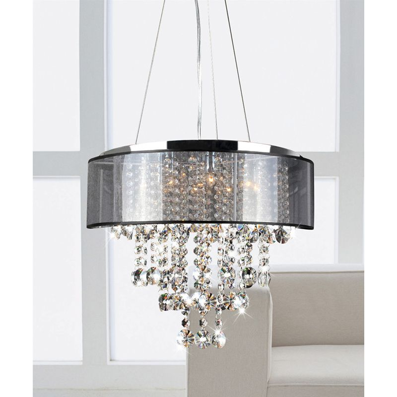 This stunning modern crystal chandelier makes an elegant for Dining room chandeliers modern
