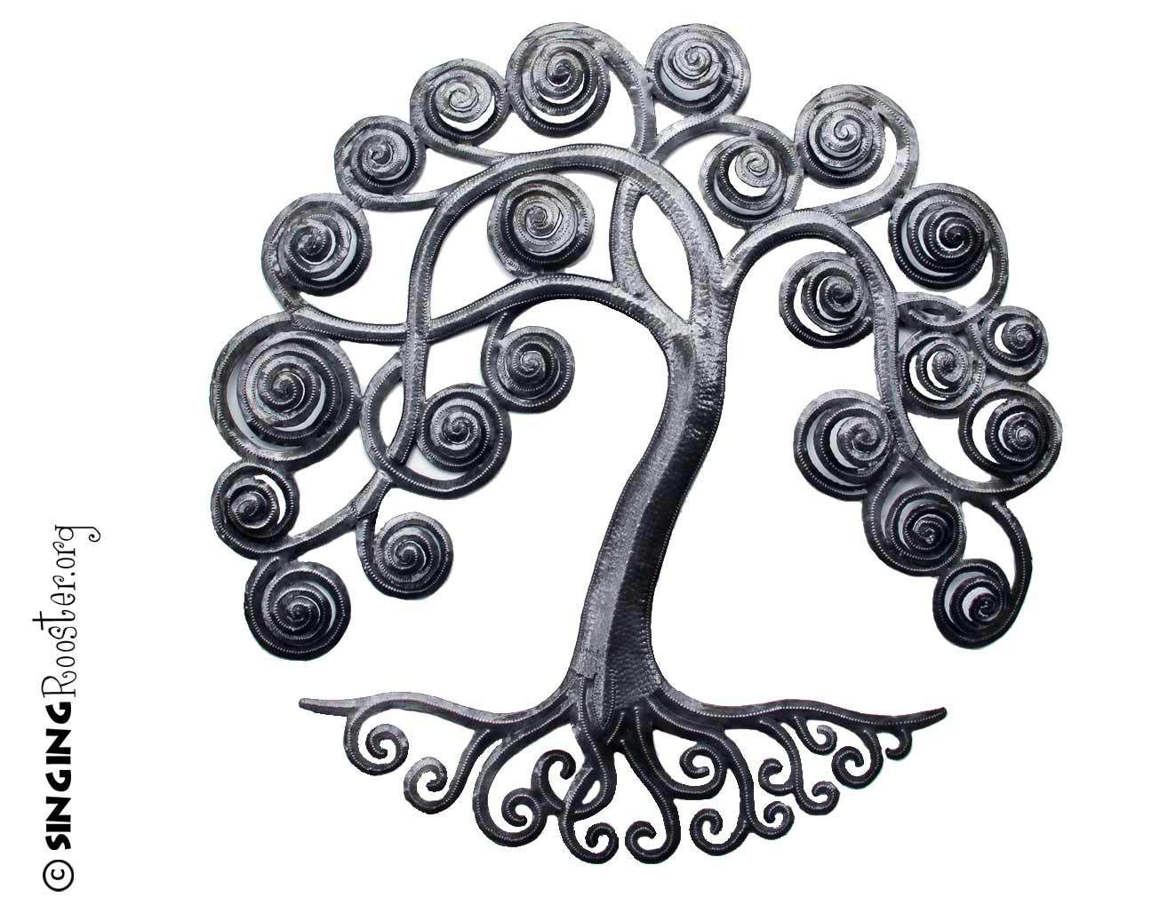 Where To Buy Metal Wall Art 6″ Mini Curly Tree Of Lifehaitian Metal Wall Art  Indoors Or