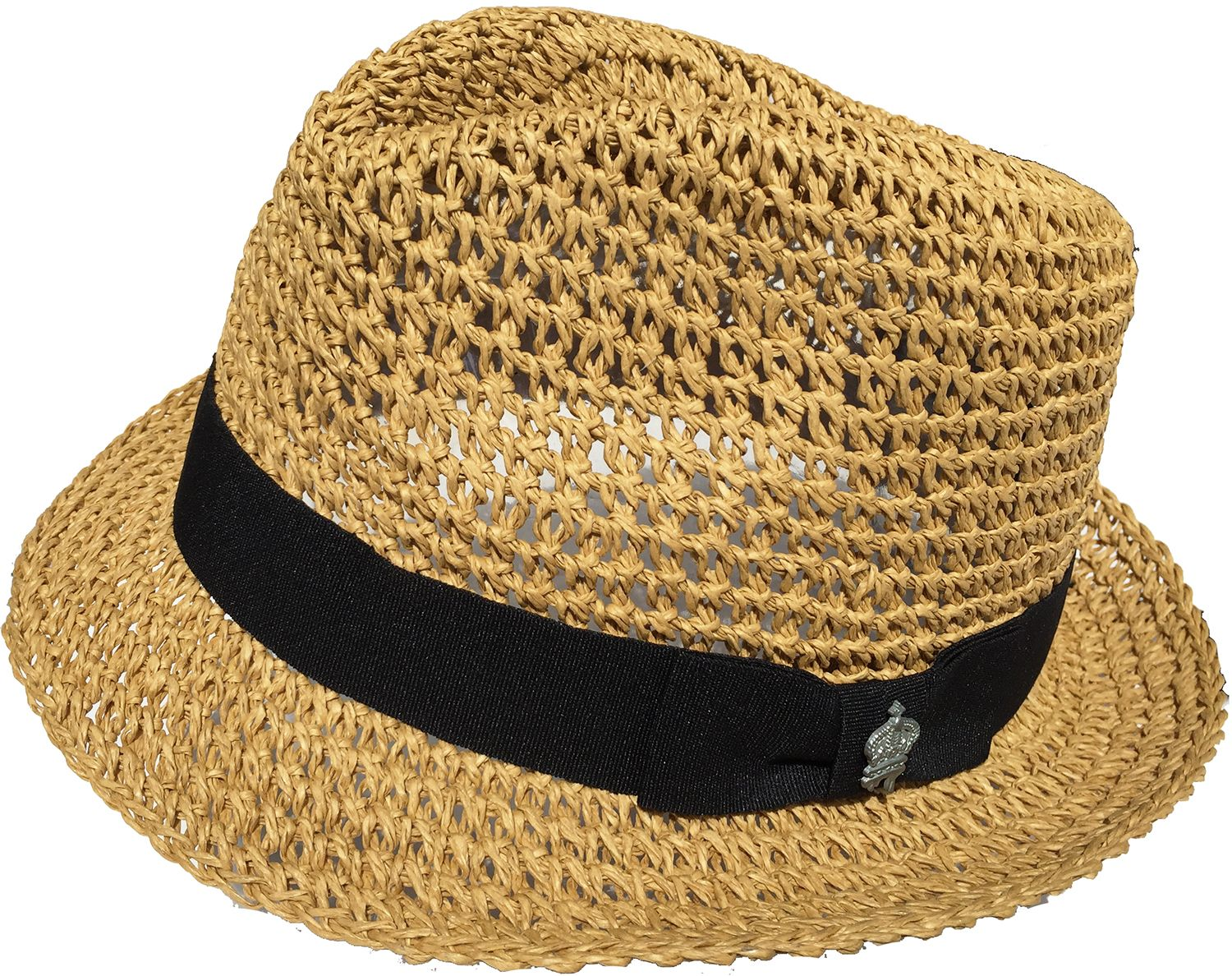 Vintage Christys Crown Crocheted Paper Straw Fedora at headchange ...