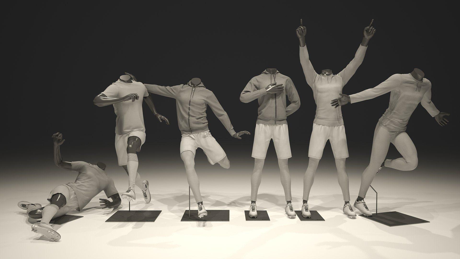 Male mannequin Nike Football pack 3D mannequinNikeMale
