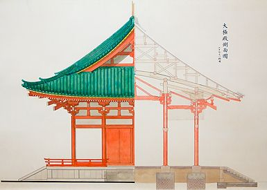 Chinese Architecture Drawing Ambling In Asia