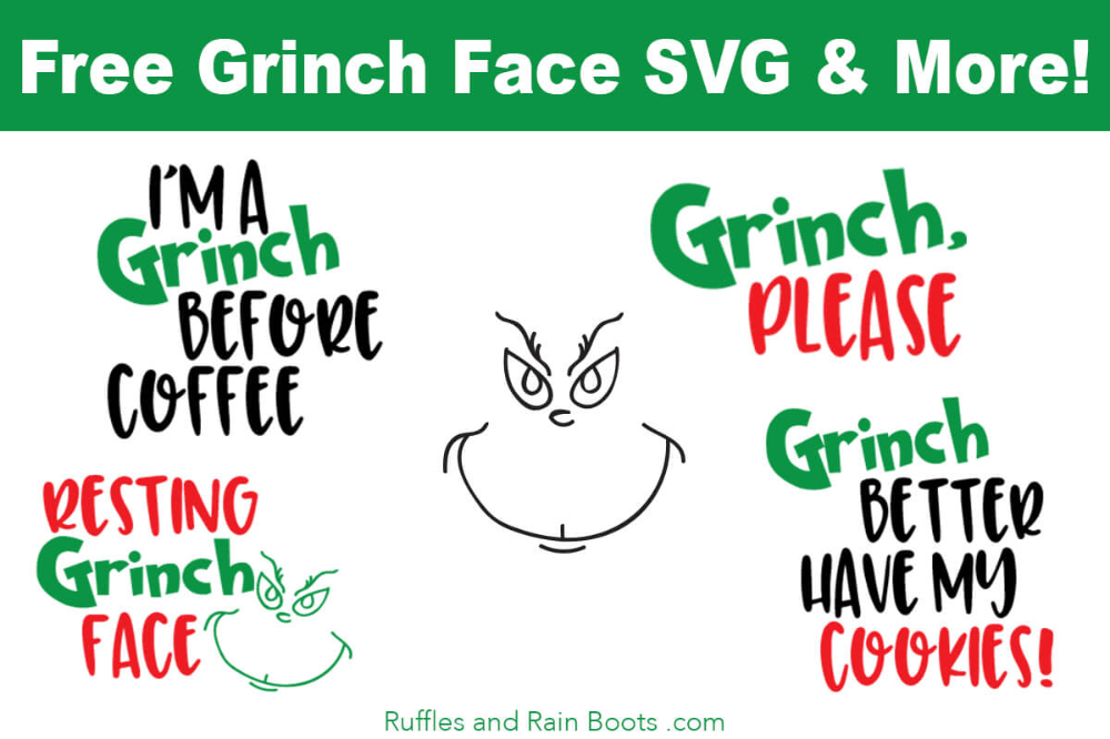 Free Grinch SVGs Resting Grinch Face and So Many More