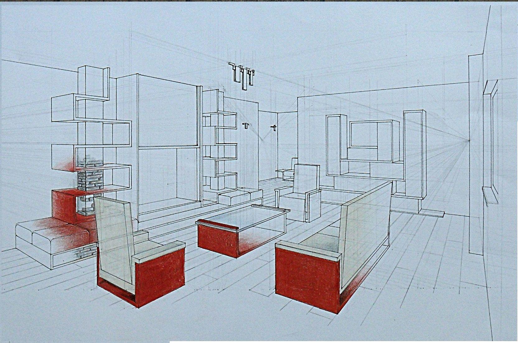 Prospettiva accidentale interno liceo artistico medardo for Disegno interno casa