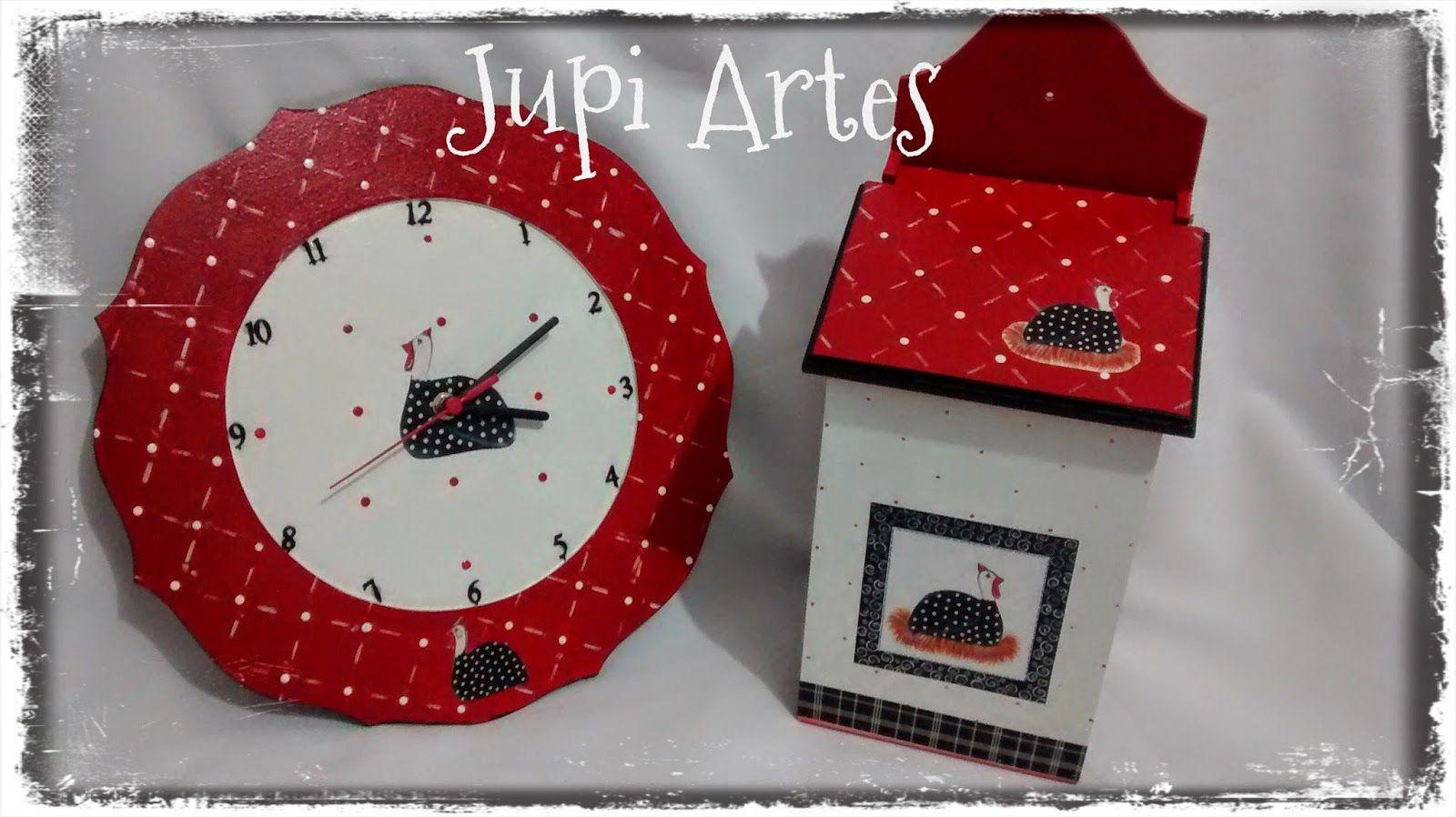 Jupi Artes: Relógio + Puxa Sacos
