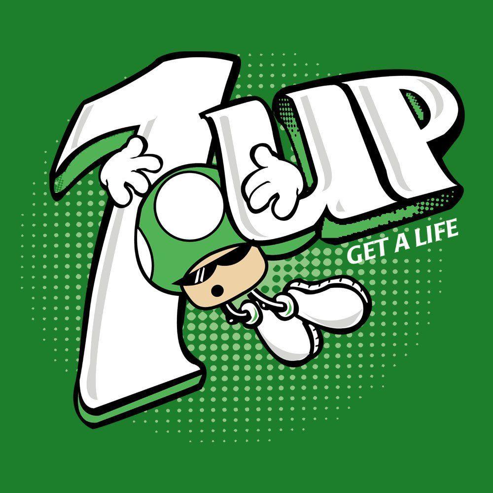 55bd5a18 1Up Super Mario Bros Green Mushroom 7Up Logo   Raviino   Mario ...