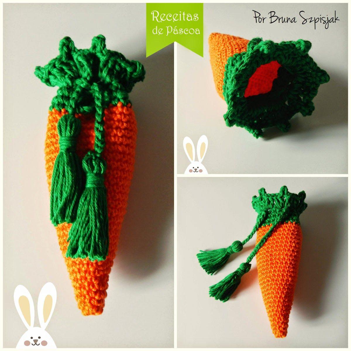 Aprendiz de Crocheteiras: Páscoa: Cenoura de Crochê | Ganhe Mais Círculo